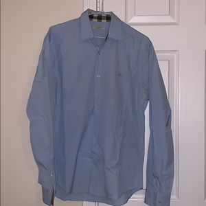 Burberry Button Down- Stretch Cotton Poplin Shirt